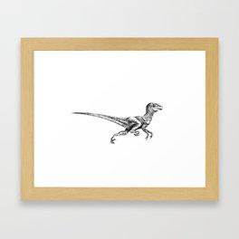 Deinonychus Framed Art Print