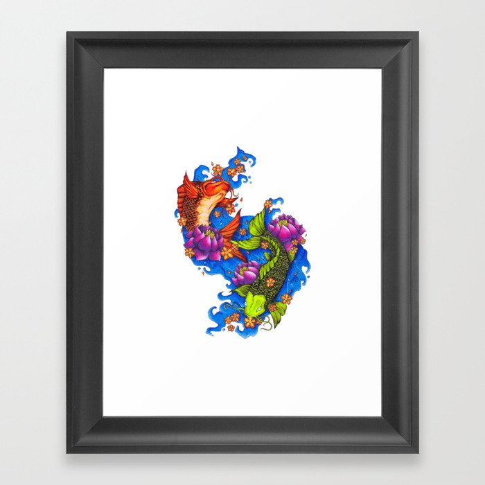 Koi Fish Framed Art Print