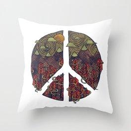 Peaceful Landscape Throw Pillow