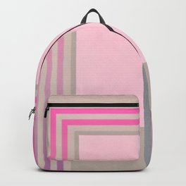 In the Pink - pink graphic Backpack