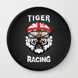 Tiger Racing Wall Clock