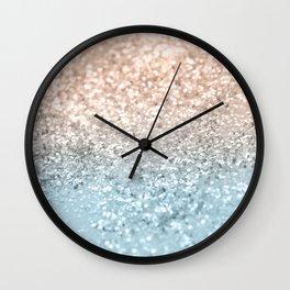Blush Glitter Dream #2 #shiny #decor #art #society6 Wall Clock