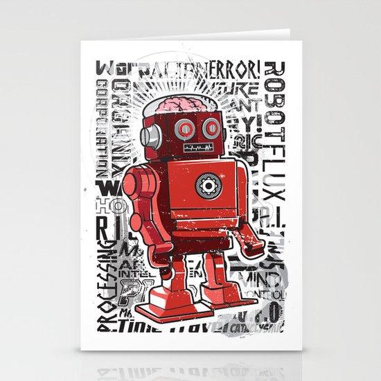 Robot Flux Stationery Cards