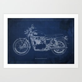 1969 triumph bonneville classic vintage motorcycle christmas gift Art Print