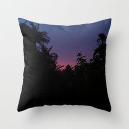 Sunset o the Maldives Throw Pillow