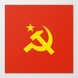 Communist Hammer & Sickle & Star Canvas Print
