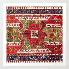 Sevan Kazak Southwest Caucasus Rug Print Art Print