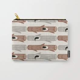 logs and birds Carry-All Pouch