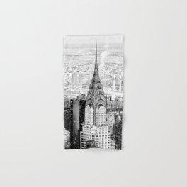 Snow - New York City - Chrysler Building Hand & Bath Towel