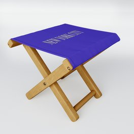 New York City (type in type on blue) Folding Stool