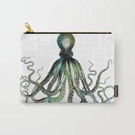 Octopus marine life watercolor art Carry-All Pouch