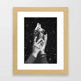 Heart says hold on Framed Art Print