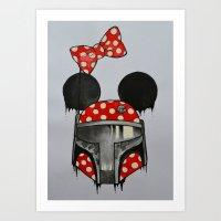 Minnie Boba Art Print