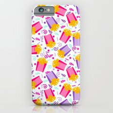French Fries junk food party time razzle neon bright happy fun kids children pop art pattern foods iPhone 6s Slim Case