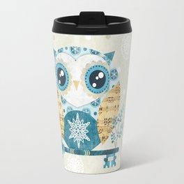 Winter Wonderland Owl Travel Mug