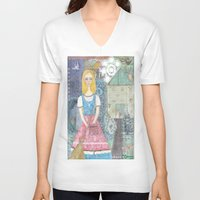 cinderella V-neck T-shirts featuring Cinderella by inara77