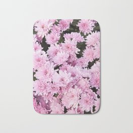 A Sea of Light Pink Chrysanthemums #1 #floral #art #Society6 Bath Mat