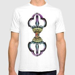 Rainbow Vajra - Tibetan Dorje Drawing T-shirt