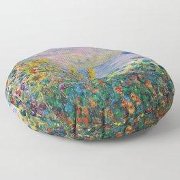 12,000pixel-500dpi - Claude Monet - Flower Beds at Vetheuil Floor Pillow