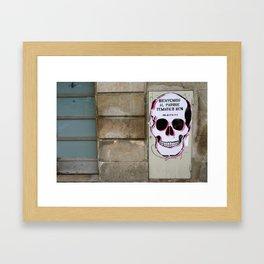 Street Art in Spain Framed Art Print