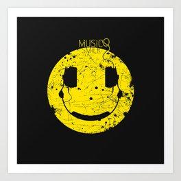 Music Smile V2 Art Print