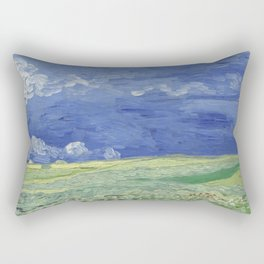 Wheatfield under Thunderclouds Rectangular Pillow
