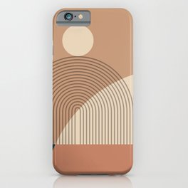 Abstraction_SUN_LINE_SHAPE_POP_ART_Minimalism_1201A iPhone Case