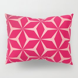 Flowers and geometry in pink Pillow Sham