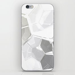 White Fractal iPhone Skin