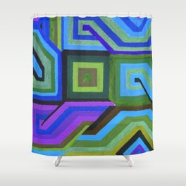 Love and Logic Colour Variation Shower Curtain