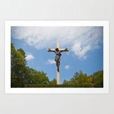 Cross in the Woods Art Print