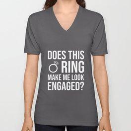 Engagement Engagement Wedding Request Ring Unisex V-Neck