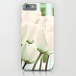 Delicate Beauty of White Tulips Art iPhone Case