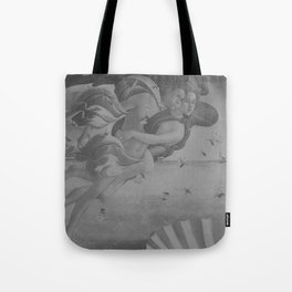 Black White Angels Tote Bag