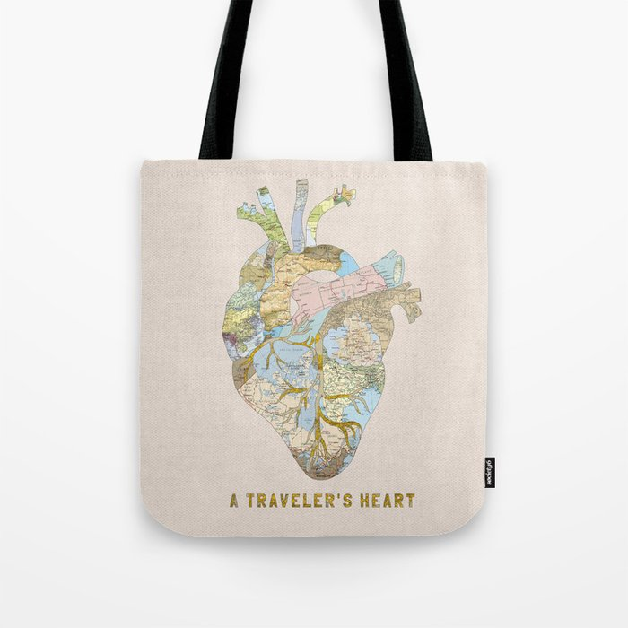 A Traveler's Heart Tote Bag