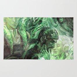 Green Healing Light Rug