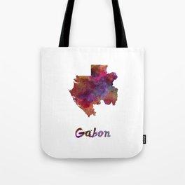 Gabon in watercolor Tote Bag