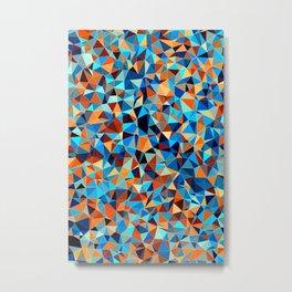 Colorful Low Poly Design Metal Print