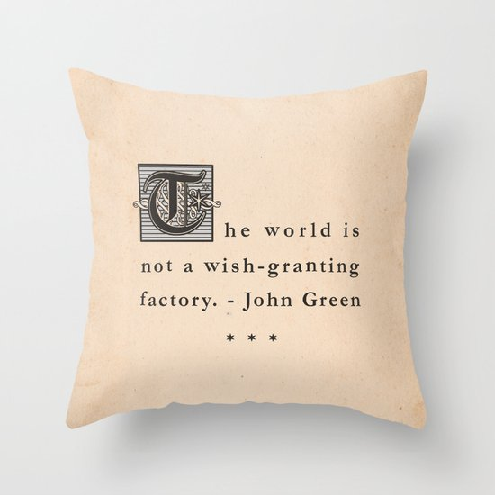 Wish-Granting Factory Throw Pillow