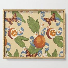 Botanical Oranges Serving Tray