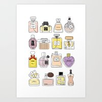 perfume Art Prints featuring Perfume by thedreamingclouds