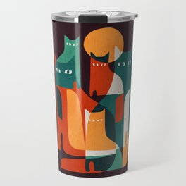 Cat Family Travel Mug