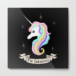Fabulous unicorn Metal Print