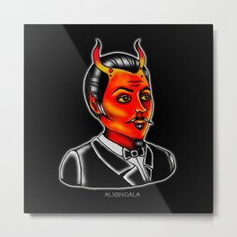 Halloween Flash | Devil Gent Metal Print
