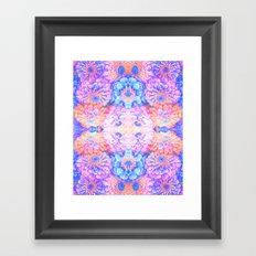 Pyschedelic floral Framed Art Print