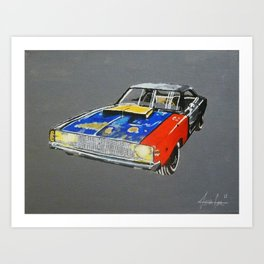 rusty dodge charger Art Print
