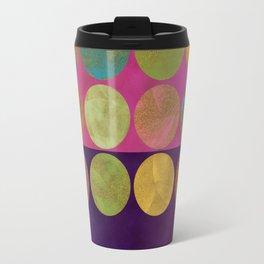 abtract painted dots gold pink purple Travel Mug