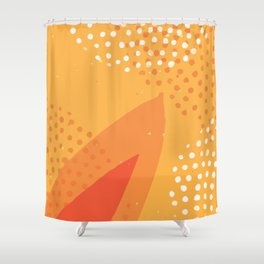 Abstract Modern Contemporary Monochromatic Background in Bright Orange Color GC-118-10 Shower Curtain