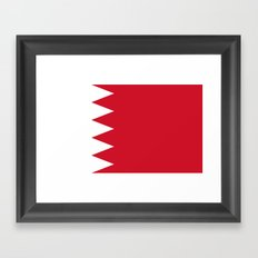 The flag of the Kingdom of Bahrain - Authentic version Framed Art Print