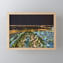 Night shot in N Las Vegas, NV Framed Mini Art Print